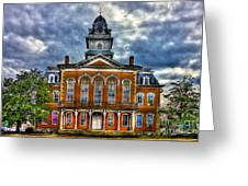Before It Burned Hancock County Courthouse Art Greeting Card