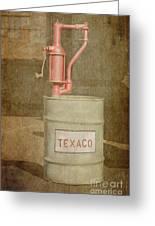 Hand-crank Oil Pump Greeting Card