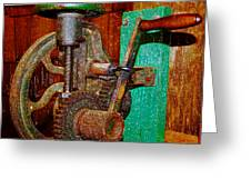 Hand Cranked Greeting Card