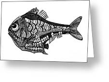Hand Drawn Vector Illustration. Retro Greeting Card