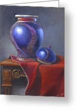 Hand Make Vase  Greeting Card by Rich Kuhn