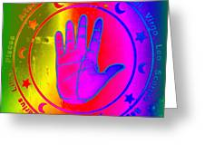 Hand Signs Greeting Card