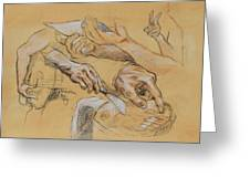 Hand Study 2 Greeting Card