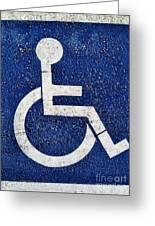Handicapped Symbol Greeting Card