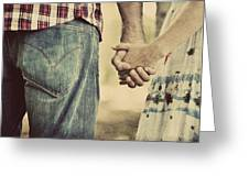 Handing Hands Greeting Card