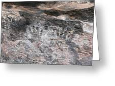 Handprints Of The Past Greeting Card