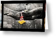 Hands Of Buddha Greeting Card