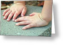 Hands Of Our Future Greeting Card