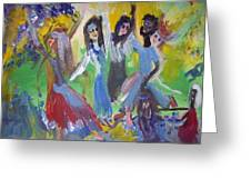 Hands Up For Peace Greeting Card