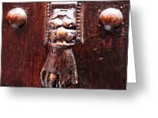 Handy Door Knocker Greeting Card