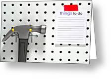 Handyman Board Greeting Card