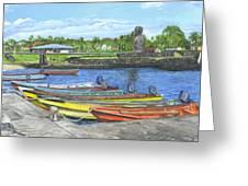Hanga Roa Harbour Greeting Card
