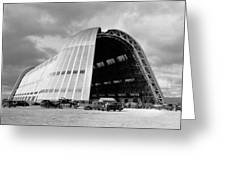 Hangar One At Moffett Field Greeting Card by Underwood Archives