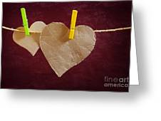 Hanged Heart Greeting Card