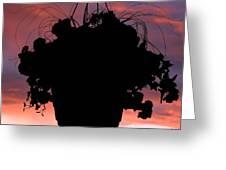 Hanging Basket Silhouette Greeting Card