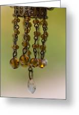Hanging Beaded Votive Abstract  3 Greeting Card