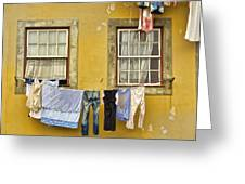 Hanging Clothes Of Old Europe II Greeting Card