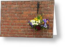 Hanging Flowers Pot Greeting Card