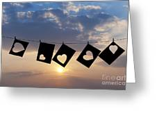 Hanging Hearts Greeting Card