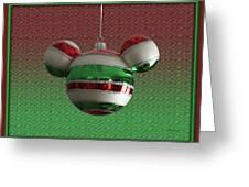 Hanging Mickey Ears 02 Greeting Card