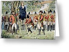 Hanging Of Nathan Hale Greeting Card