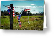 Hanging On - The American Spirit By William Patrick And Sharon Cummings Greeting Card