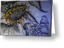 Hanging On To Life - Sunflower Greeting Card