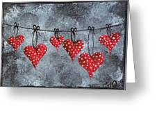 Hanging On To Love Greeting Card