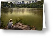 Hanging Out In Central Park Greeting Card