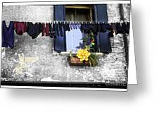 Hanging Out To Dry In Venice 2 Greeting Card