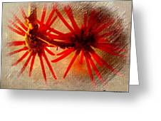 Hanging Spider Blooms Greeting Card
