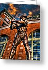 Hank Aaron In Hdr Greeting Card
