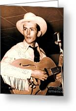 Hank Williams Sr. Greeting Card by Pg Reproductions
