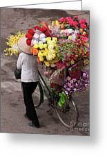 Hanoi Flowers 01 Greeting Card