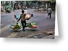 Hanoi Street Life II Greeting Card