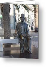 Hans Christian Andersen Sculpture Greeting Card