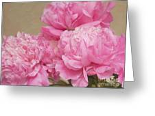 Happiness In Pink Silk Greeting Card