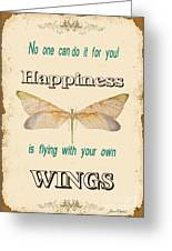 Happinesstypography Greeting Card