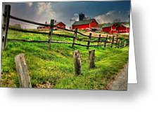 Happy Acres Farm Greeting Card