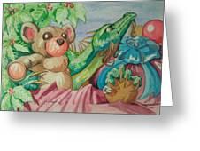 Happy Baby Dragon Greeting Card