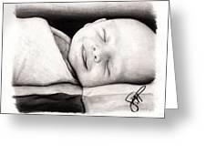 Happy Baby Greeting Card by Rosalinda Markle