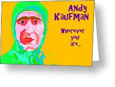 Happy Birthday Andy Kaufman Greeting Card
