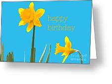 Happy Birthday Jonquils Greeting Card