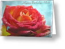 Happy Birthday Mom Rose Greeting Card