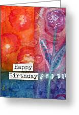 Happy Birthday- Watercolor Floral Card Greeting Card
