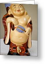 Happy Buddah Statue Greeting Card