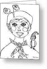 Happy Clown Girl Greeting Card