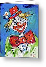 Happy Clown-ideal For Childrens Nurserys Greeting Card