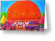 Happy Days At The Big  Orange Greeting Card