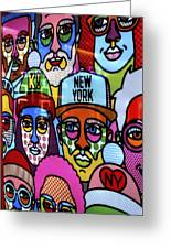 Happy Faces Happy Places New York Greeting Card
